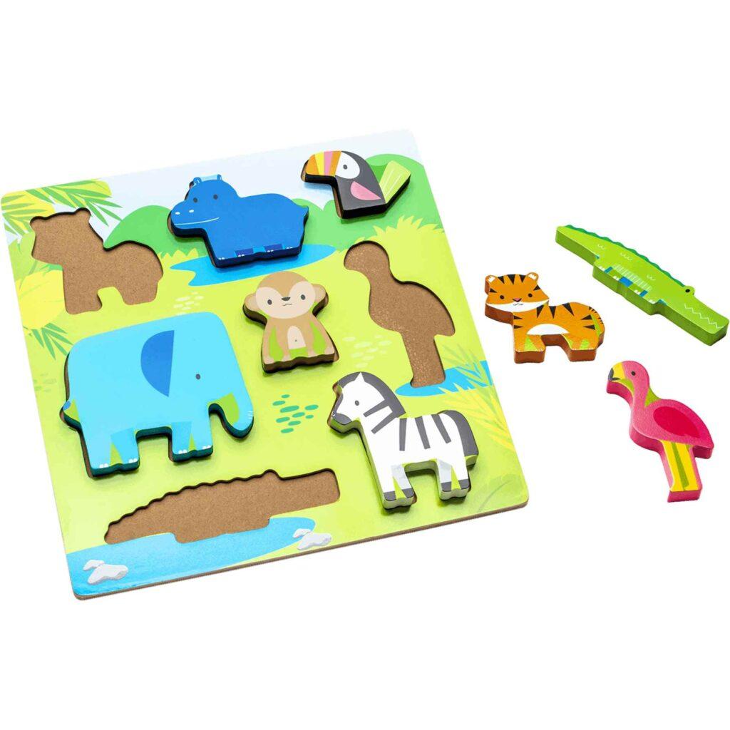 puzzle animalitos madera
